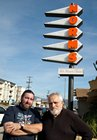 Steve Wyatt & Russ Heath at Norm's Restaurant in Van Nuys, CA.