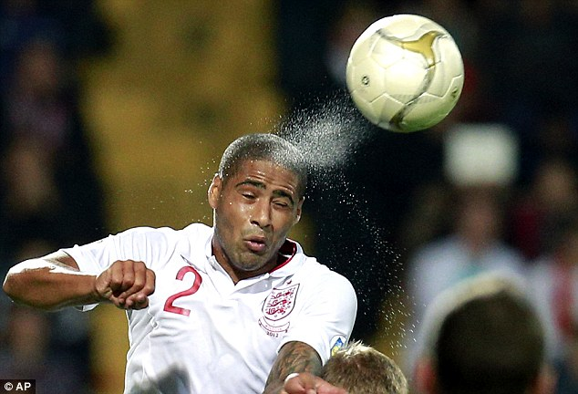 Careful now: Glen Johnson might regret his booking