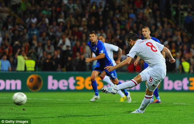 Comforting: Lampard is placed 13th in England's list of goalscorers after a brace against Moldova