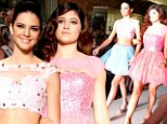 Too cool for school! Kendall and Kylie Jenner strut down the catwalk at New York Fashion Week