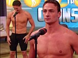 Shirtless... AGAIN: Ryan Lochte once again showed off his gold medal muscles when he lost a fun quiz to Kelly Ripa and her brand new co-host Michael Strahan on the Live! with Kelly and Michael show this morning