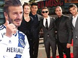 David Beckham involved in crash with The Wanted... but don't worry, they were just go-karting