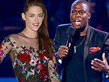 'It's over, move on': Comedian Kevin Hart defends Kristen Stewart's cheating antics as he hosts the VMAs