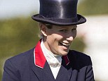 Ride again: Zara Phillips rode Black Tuxedo in the dressage at Blenheim Palace Horse trials