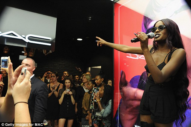 For her fans: The 21-year-old rapper performed hits including Van Vogue, 1991 and Liquorice