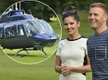 Look who is back! Cheryl Cole makes a dramatic return to X Factor arriving with Gary Barlow in a helicopter