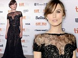 From Russia with love! Keira Knightley dazzles in black at Toronto premiere of Anna Karenina