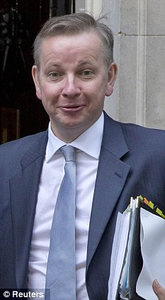 Anger: Michael Gove's Education department has said that the strike is dangerous