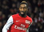 Out of favour: Djourou (right) has not featured for Arsenal this season