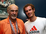 Acting legend: Andy Murray of Great Britain poses with actor Sean Connery after his men's singles semifinal match against Tomas Berdych of Czech Republic on Day Thirteen of the 2012 US Open