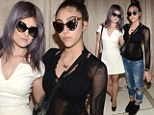Checkmates! Kelly Osbourne and Lourdes Leon wear complementary black and white to Zac Posen's New York show... while Naomi Campbell thrills in frills