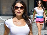 Bethenny Frankel wears Navajo print shorts in NYC