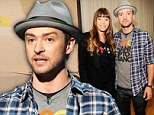 Jessica Biel and Justin Timberlake attend Stand Up To Cancer at The Shrine Auditorium in Los Angeles, California