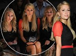 Paris Hilton attends the Charlotte Ronson New York Fashion Week show