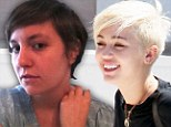 Lena Dunham has cut her hair to look like Miley Cyrus' new short style