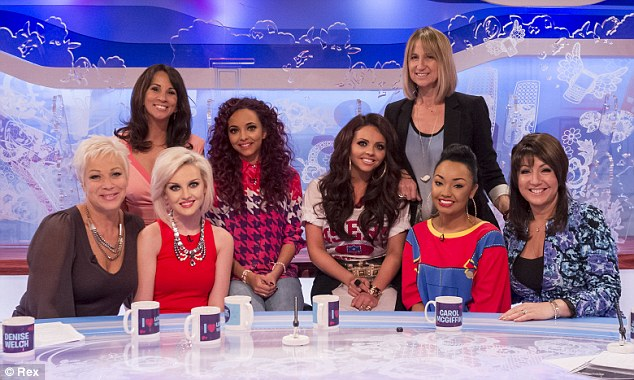 Screen stars: The girls appeared on the show to talk about their number one single Wings and upcoming album