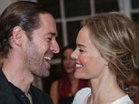 Look of love: Kate and Michael are clearly relishing being engaged