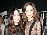 Fashion friends: Rose Byrne sneaked backstage at the Jill Stuart fashion show in New York on Saturday