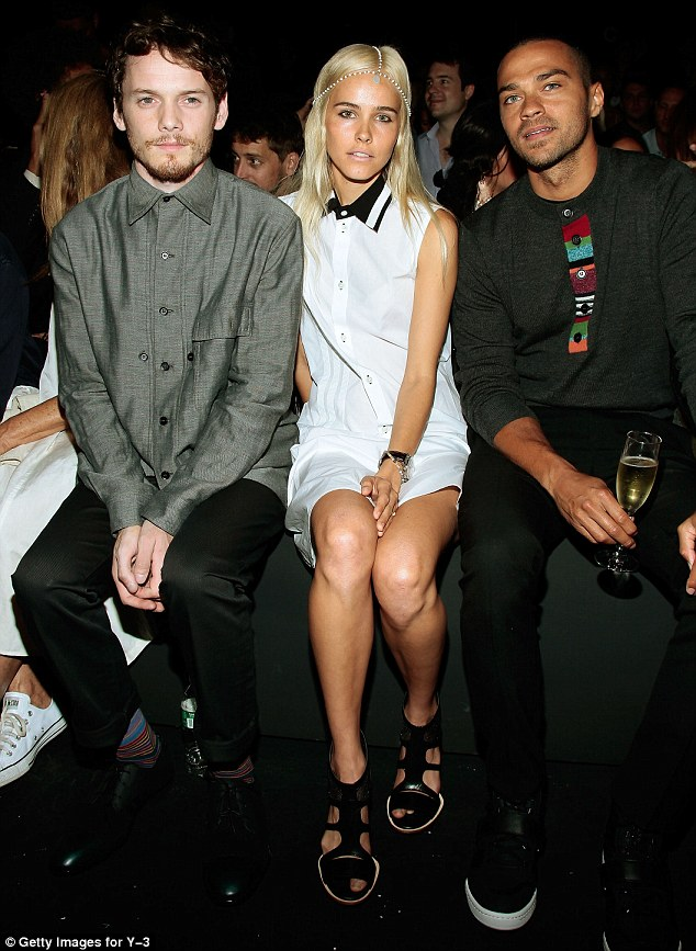 VIP: She sat in the front row with actors Anton Yelchin and Jesse Williams