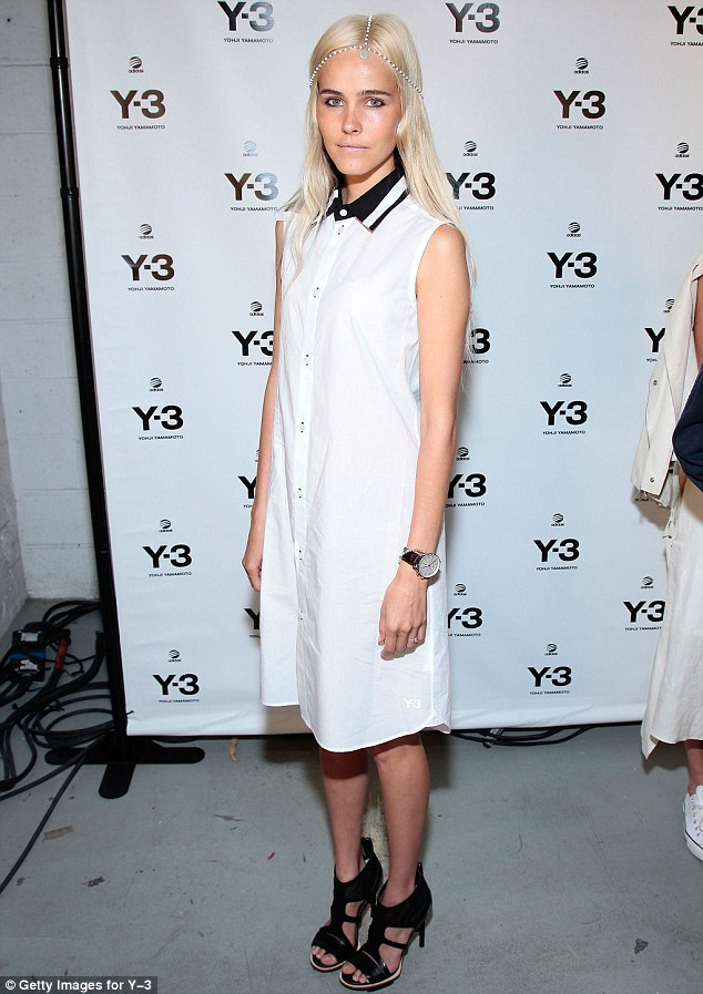 Standing out: Actress Isabel Lucas attended the Y-3 10th Anniversary Collection at St. John's Center in New York City
