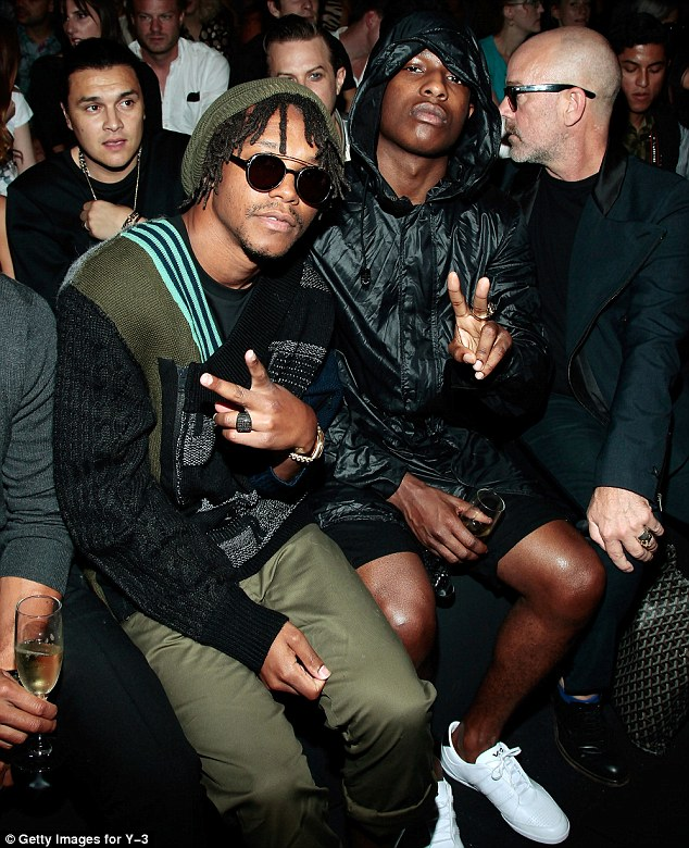 Man gang: Rappers Lupe Fiasco and A$AP Rocky with singer Michael Stipe
