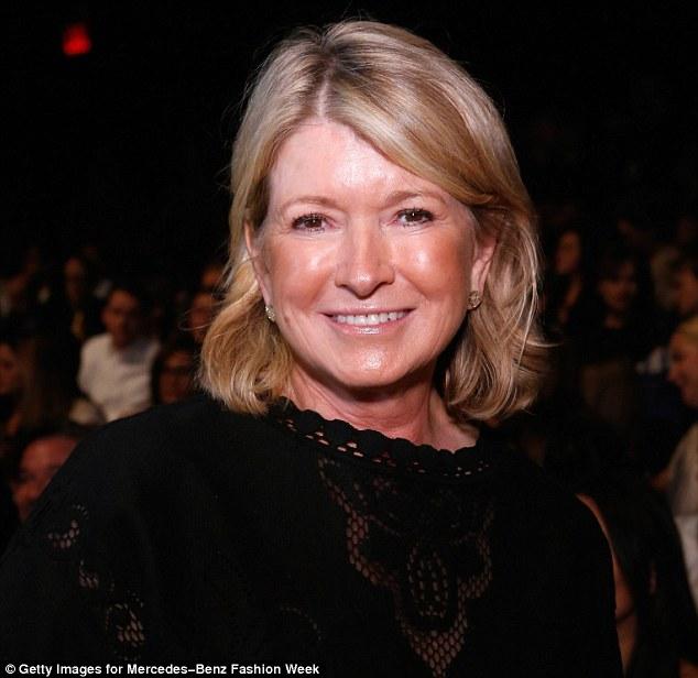 Safe in black: Martha Stewart attends the Chado Ralph Rucci Spring 2013 show during Fashion Week