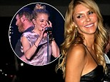 Brandi Glanville denies getting back with her ex-husband Eddie Cibrian while LeAnn Rimes performed on stage