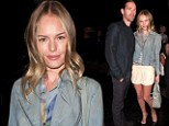 Legs that go for miles! Kate Bosworth displays her endless pins front row at New York Fashion Week