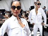 Talk of the tents! Alicia Keys is white hot in edgy monochrome ensemble at New York Fashion Week