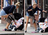 Soon to be Mrs Cohen - Peaches Geldof was spotted out with baby Astala