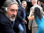 She's like a Raging Bull! Overeager fan rushes at Robert De Niro as he arrives at premiere