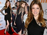Get thee to a tailor! Anna Kendrick carries her LBD's hemline like a train at the End of Watch premiere