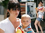 Selma Blair and her son Arthur in Studio City, California