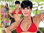 Anything you can do! Kris Jenner, 56, follows in daughter Kim's footsteps by showing off her startling bikini body
