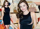 International girl! Miranda Kerr stun in sheer cut-away dress as she takes promotion for fashion brand to South Korea