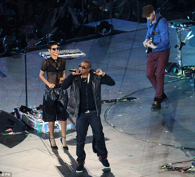 Ratings winner: Rihanna and Jay Z joined Coldplay to perform at the Olympics Closing Ceremony