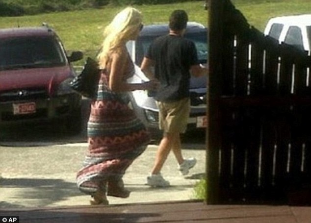 Last sighting: The pair went to Aruba after meeting on a swingers website. Gardner, seen here in surveillance footage before her disappearance, has not been seen since a snorkelling trip with Giordano
