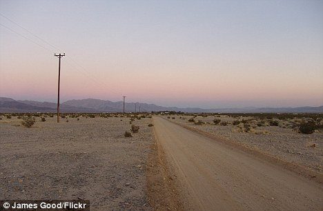 Hostile: Two grandparents have been arrested for allegedly shackling their grandson to a chair every night at their desert Twentynine Palms (pictured) home