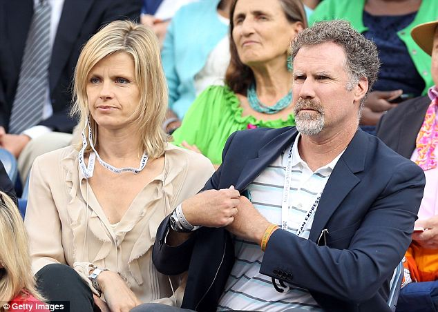 Famous fans: Funnyman Will Ferrell and his wife Viveca Paulin are regulars at the U.S. Open