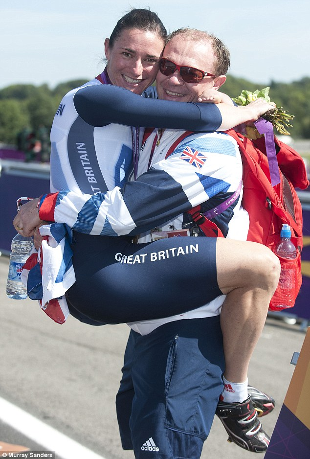 Team Storey: Sarah with her cycling champion husband Barney