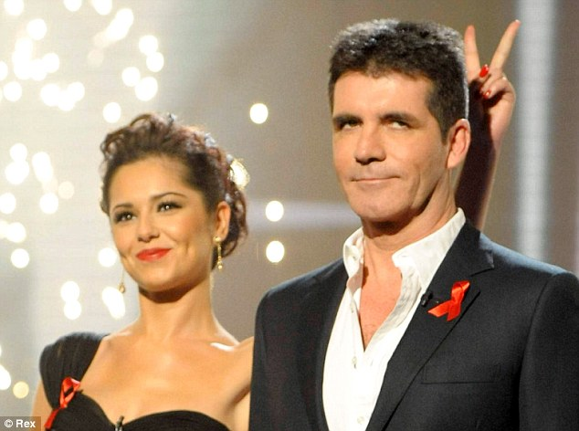 Happier times: Cheryl and Simon were good friends until he axed her from X Factor USA