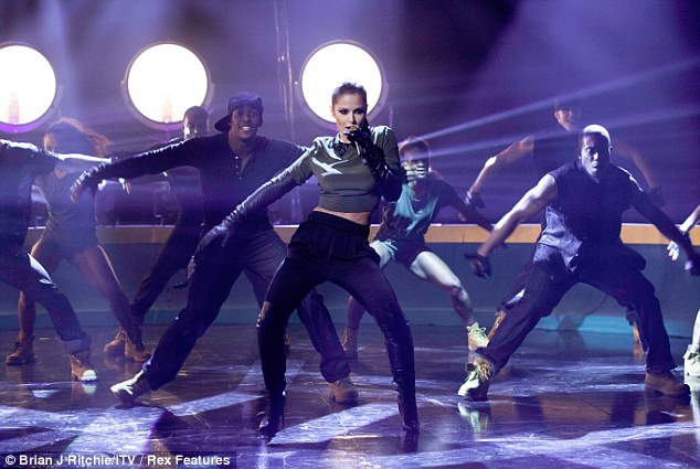 Moves like Jagger: Cheryl told Jonathan that she didn't who the backing dancer was but he was very handsome