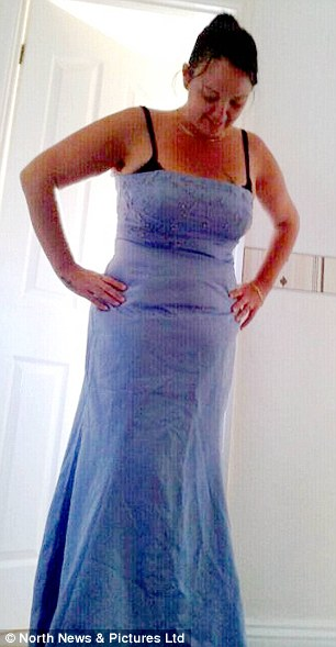 Slimmed down: Marie is now a dress size 14 after losing 7st following gastric surgery. She loves her new shape and how she can now fit into pretty dresses