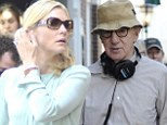Woody Allen's latest muse: Cate Blanchett looking prim and proper on set of director's new comedy