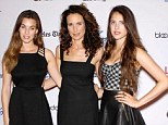 Good genes: Andie MacDowell and her daughters, Rainey, 22, and Sarah Margaret, 17, made for a glamorous trio as they took to the red carpet in Los Angeles last night (Monday)