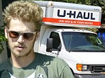 Hayden Christensen was seen loading up and driving away a U Haul truck