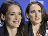 Actor Winona Ryder reacts during a news conference for the film