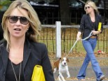 Kate Moss takes new puppy Archie for a walk