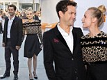 Supporting her man: Diane Kruger gazes lovingly at boyfriend Joshua Jackson at the premiere of his new film Inescapable