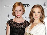 Leading ladies: Madisen Beaty and Amy Adams looked lovely at a Tronto screening of The Master tonight